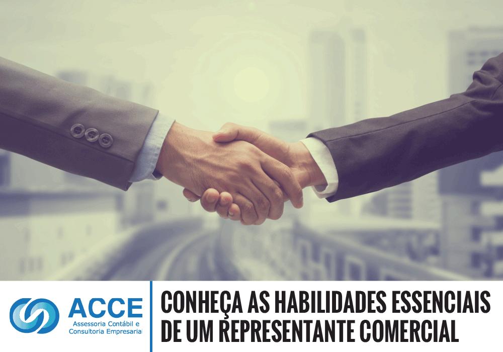 Representante De Vendas - ACCE - Conheça as habilidades essenciais de um representante comercial