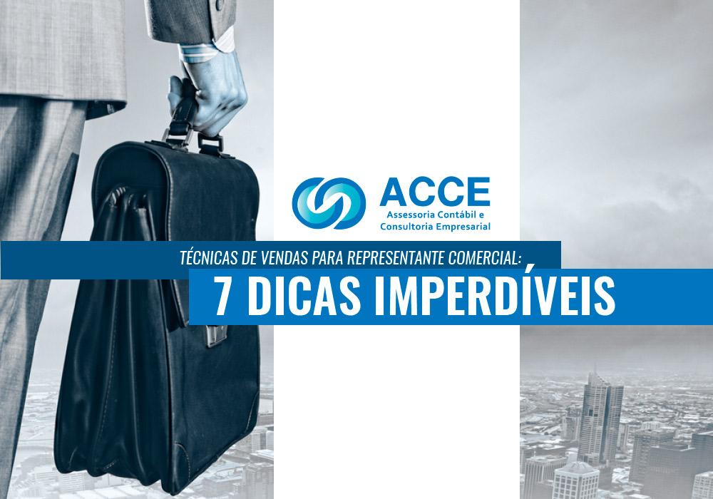 Técnicas De Vendas Para Representante Comercial - ACCE - Técnicas de vendas para Representante Comercial: 7 dicas imperdíveis